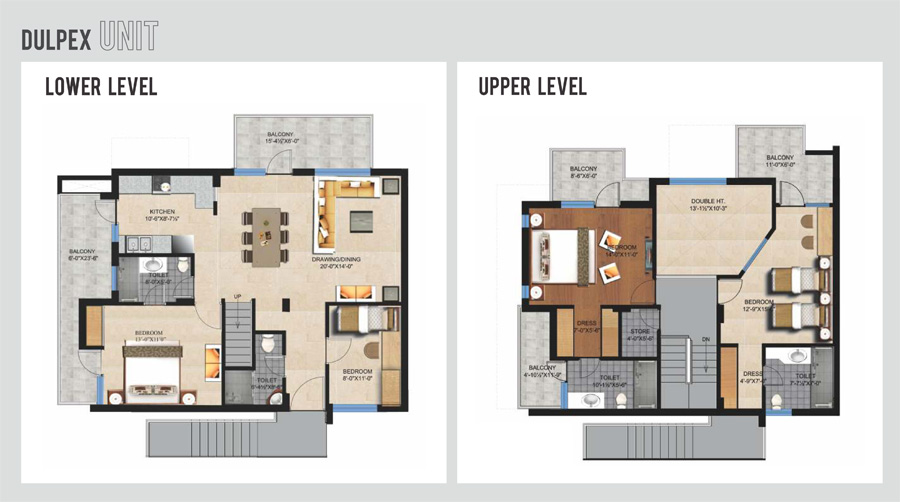 4 bedroom penthouse apartment residential property for for Duplex apartment plans
